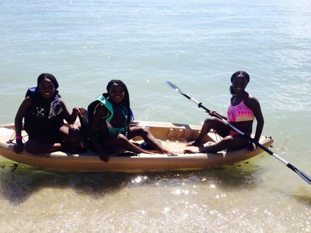 Girls in Kayak