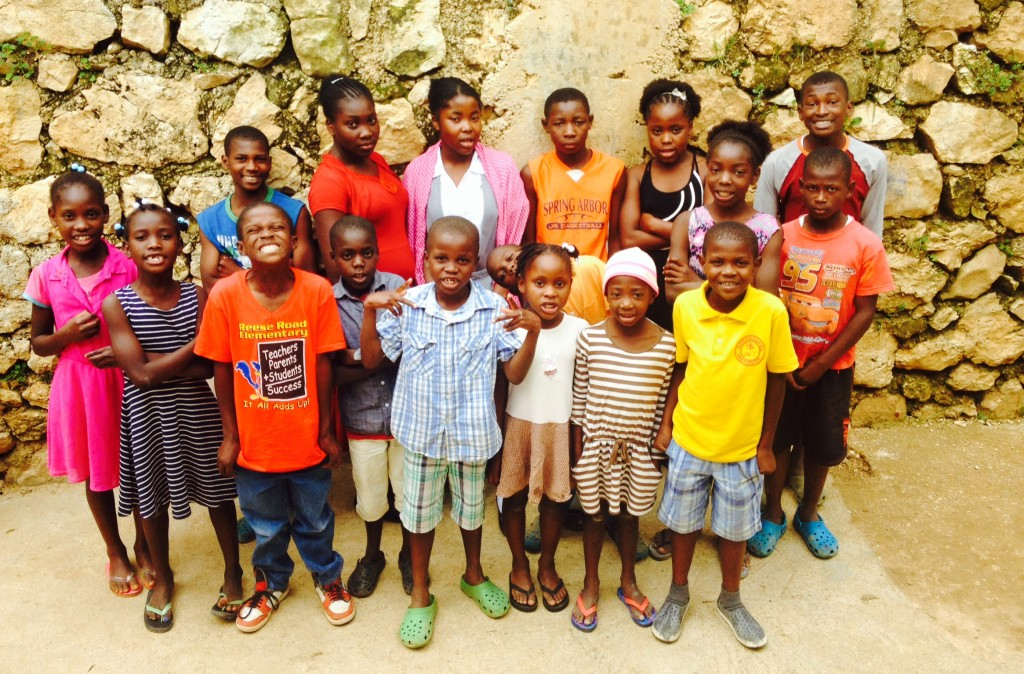 Heart of God Haiti sponsored kids at the center