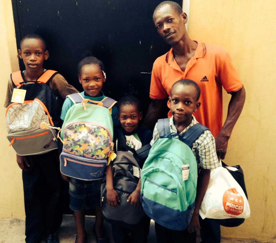 Last year at this time many responded to help Djo's kids. This year a friend helped with backpacks and school supplies. Djo's family is doing well and has been able to add on/repair their house more this year!
