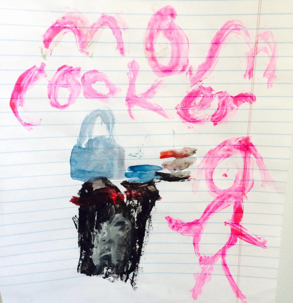 Evan's Mom Cooker Painting